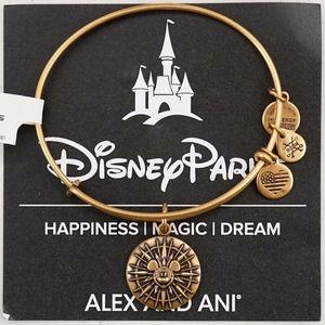 Alex And Ani Mickey's Fun Wheel Gold Bangle